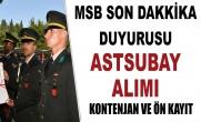TSK 2019 YILI DIŞ KAYNAKTAN MUVAZZAF ASTSUBAY ADAYI TEMİNİ DUYURU