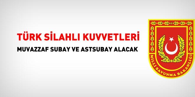 Türk Silahlı Kuvvetleri Muvazzaf Astsubay Alım İlanı