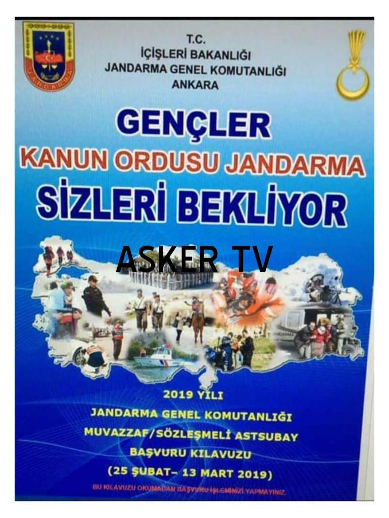 Jandarma Sözleşmeli Subay Astsubay Alımı 2019