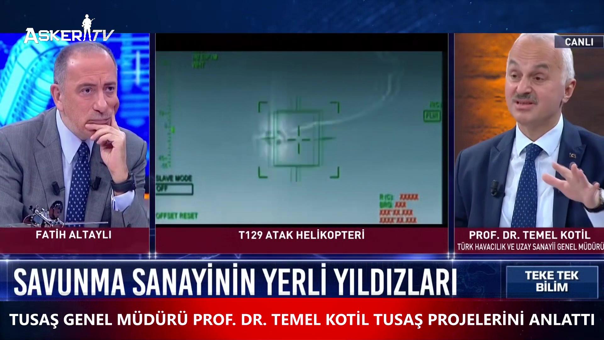 TUSAŞ Genel Müdürü Temel KOTİL, TUSAŞ Projelerini Anlattı (14.03.2021)